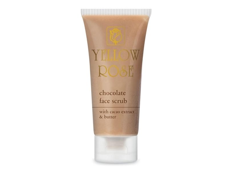 Yellow Rose Chocolate Face Scrub – Šokolādes gēlveida skrubis sejai ar dabīgo kakao