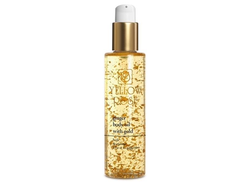 Yellow Rose Ginger Body Oil with Gold – Pretcelulīta sildoša masāžas eļļa ar zeltu un ingveru