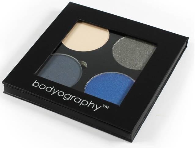 "Bodyography 4 acu ēnu palete ""Fierce"" (zilos un metāliskos toņos)"