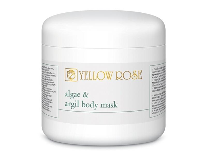 Yellow Rose Algae & Argil Body Mask – Modelējoša, toksīnu izvadoša maska ķermenim ar aļģēm un zaļo mālu