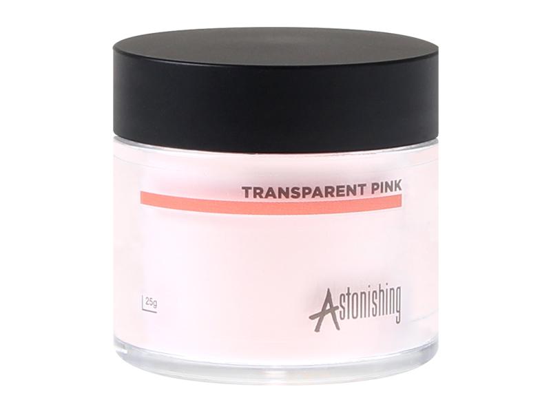 Astonishing Acrylic Powder (Transparent Pink) – Akrila pūderis (auksti-rozā)