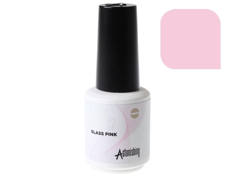 Astonishing 1-Step Brush Builder (Glass Pink) – Bāze, tops, būvējošs gēls vienā flakonā