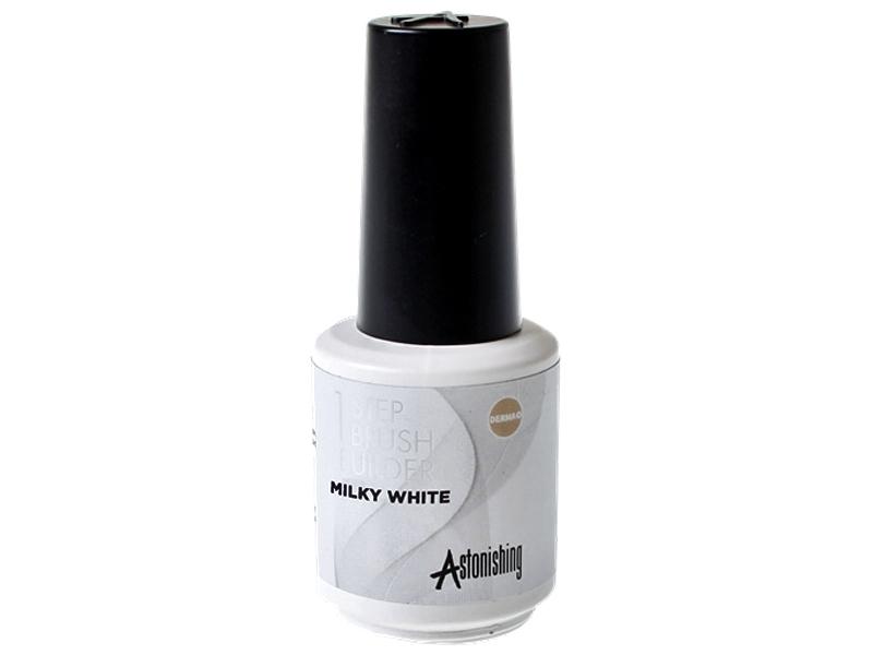 Astonishing 1-Step Brush Builder (Milky White) – Bāze, tops, būvējošs gēls vienā flakonā