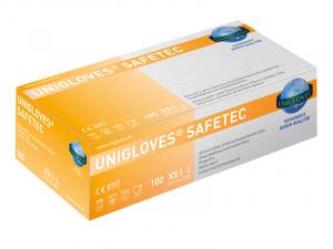 Unigloves® Safetec Lateksa cimdi (bez pūdera) 100 gab.