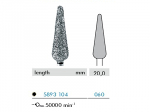 Hadewe Diamon Bur – Dimanta urbis (ļoti rupjš) 20,0mm
