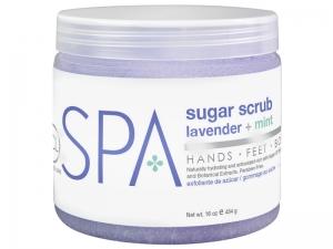 BCL SPA Lavender & Mint Sugar Scrub – Cukura skrubis rokām un kājām (Lavanda + Piparmētra)