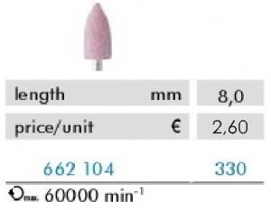 Hadewe Corundum Bur – Korunda urbis (augsti kvalitatīvs) 8,0mm