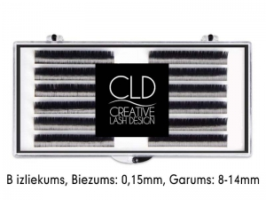CLD Cashmire Lashes – Кашемировые ресницы с B изгибом, MIX (0,15mm/8-14mm)