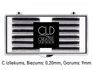 CLD Cashmire Lashes – Кашемировые ресницы с C изгибом (0,20mm/9mm)