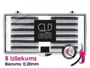 CLD Cashmire Lashes – Kašmira skropstas ar B izliekumu (biezums 0,20mm) dažādi garumi