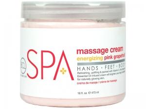BCL SPA Energizing Pink Grapefruit Massage Cream – Masāžas krēms rokām un kājām (Rozā greipfrūts)