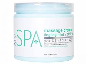 BCL SPA Tingling Mint + CBD Massage Cream – Masāžas krēms ar mētru un kaņepi