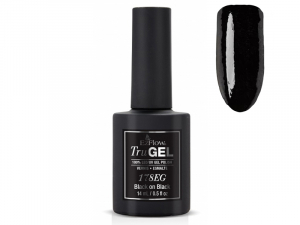 "EzFlow TruGel – Gēla nagu laka ""Black On Black"" #73517"