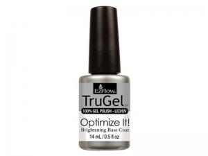 EzFlow TruGel Optimize It! Brightening Base Coat – Bāzes pārklājums spilgtākiem nagiem