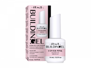 IBD Building Gel (Cover Pink) – Структурный гель с кистью (тепло-розовый)