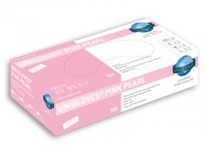 Unigloves® Pink Pearl Nitrila cimdi (bez pūdera) 100 gab.