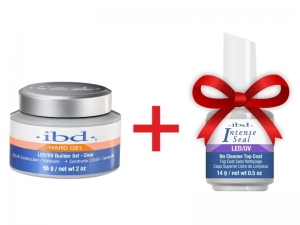 IBD LED/UV Builder Gel (Clear) + IBD Intense Seal LED/UV No-Cleanse Top Coat
