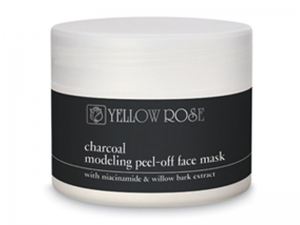 Yellow Rose Charcoal – Modelējošā Peel-Off Sejas Maska ar Bambusa Ogli, Niacīnu un Vītola Mizas ekstraktu