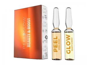 """Skin Tech Peel2Glow """"Beauty & Boost"""" – Pīlings ampulās mājas lietošanai"""